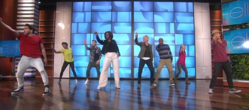 Michelle Obama dança ao som de Bruno Mars