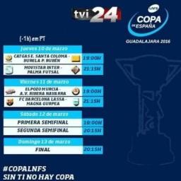 TVI 24 garante direitos de transmissão da Copa de Espanha de Futsal