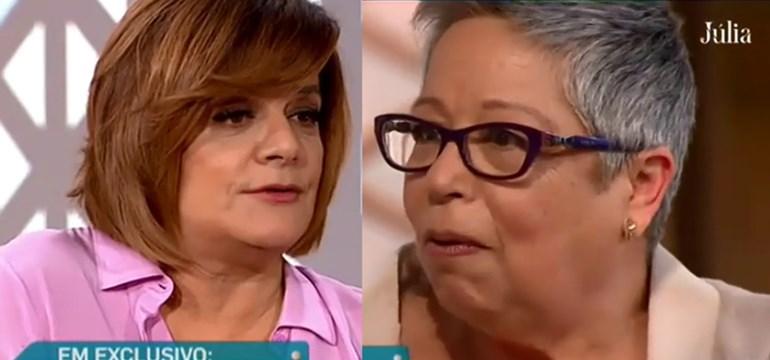 Bronca na SIC: Maria Vieira ataca Júlia Pinheiro emdirecto