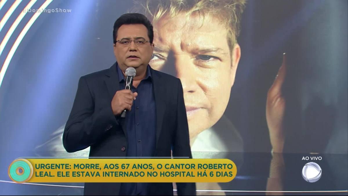 Emocionante: Geraldo Luis anuncia morte de Roberto Leal | COMVÍDEO!