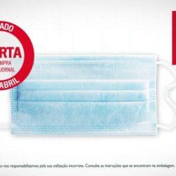 Correio da Manhã: jornal oferece máscara para a Covid-19