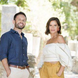 João Paulo Rodrigues e Vera Kolodzig nas gravações do novo programa da RTP