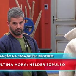 """Expulsão de Hélder do """"Big Brother"""" faz TVI subir nas audiências"""
